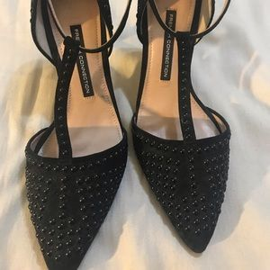 French connection beaded pumps